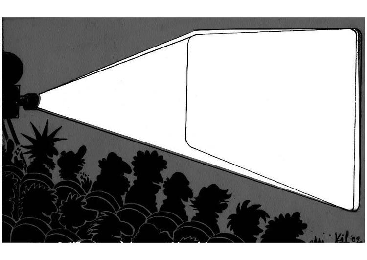 Dibujo para colorear Espectáculo de cine en negro - Img 8727