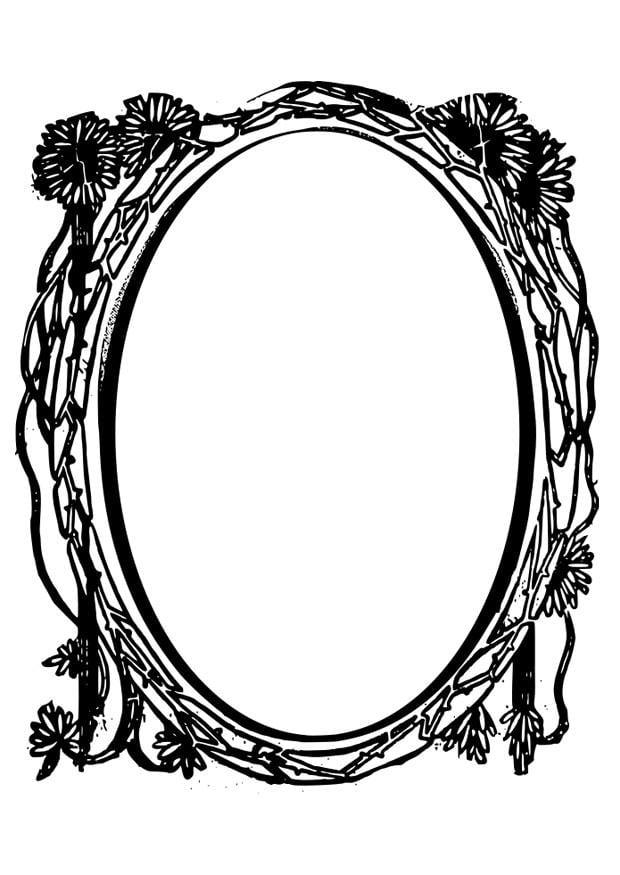 Dibujo para colorear espejo img 28075 - Dibujos para espejos ...
