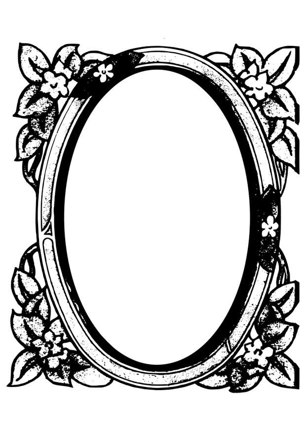 Dibujo Para Colorear Espejo Dibujos Para Imprimir Gratis