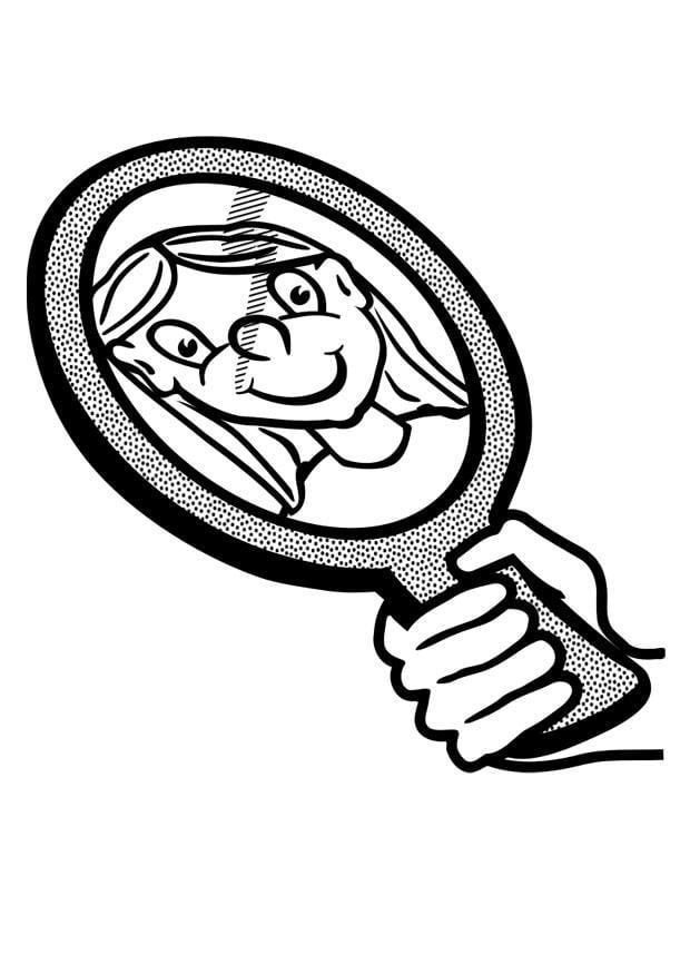 Dibujo para colorear espejo img 29448 - Dibujos para espejos ...