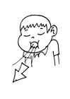 Dibujo para colorear 012b. Espirar