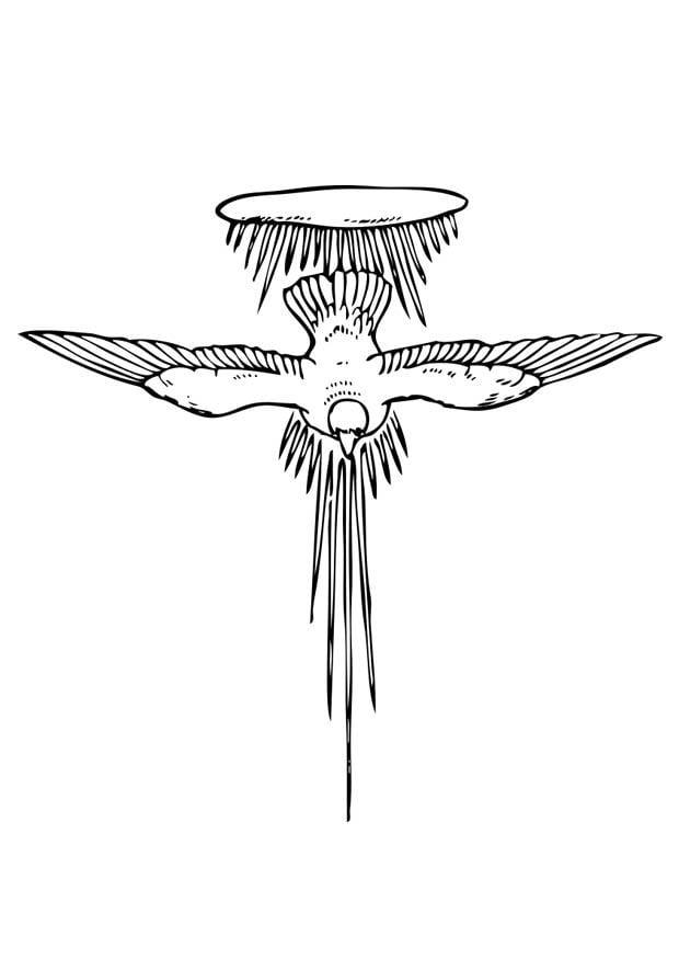 Dibujo para colorear espíritu santo - Img 17377
