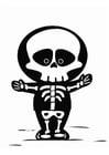 Dibujo para colorear esqueleto