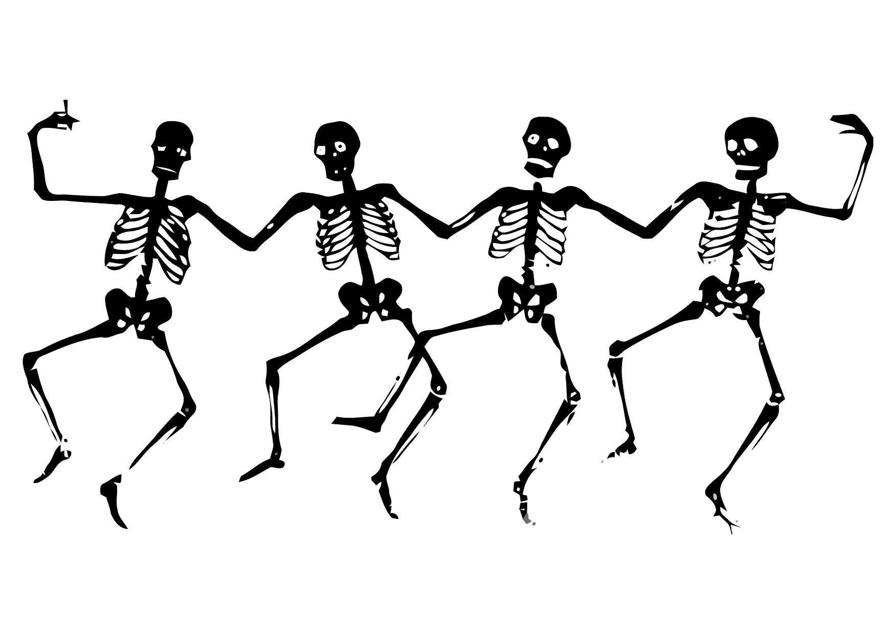 Dibujo para colorear Esqueletos bailando - Img 11310