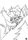 Dibujo para colorear Esquí de invierno