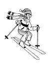 Dibujo para colorear Esquiar