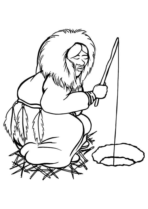 Dibujo para colorear esquimal img 29800 images - Esquimau dessin ...