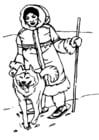 Dibujo para colorear Esquimal