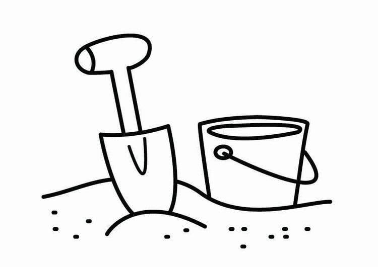 Dibujo Para Colorear Esquina De Caja De Arena Img 26771
