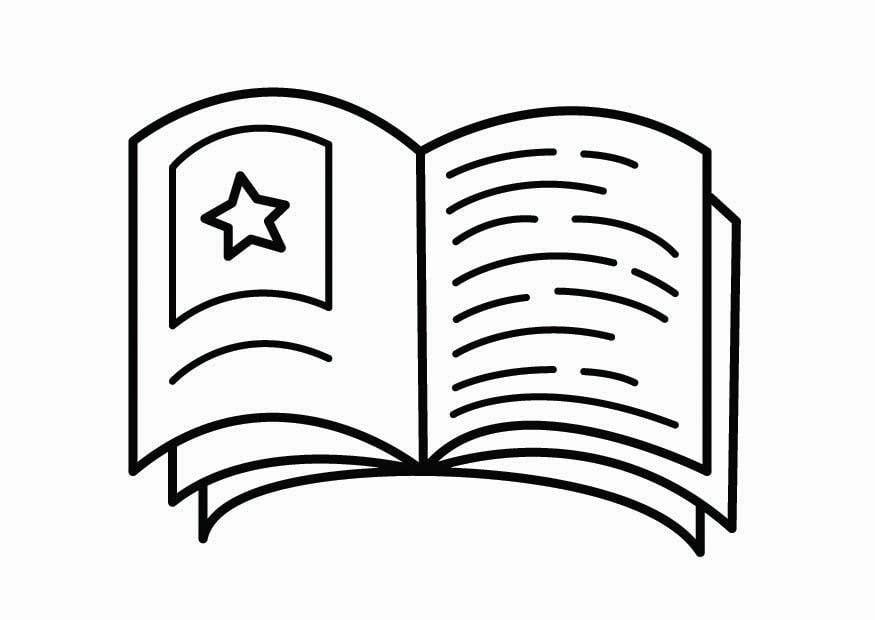 Dibujo De Lecturas De Colegio Para Colorear: Dibujo Para Colorear Esquina De Lectura