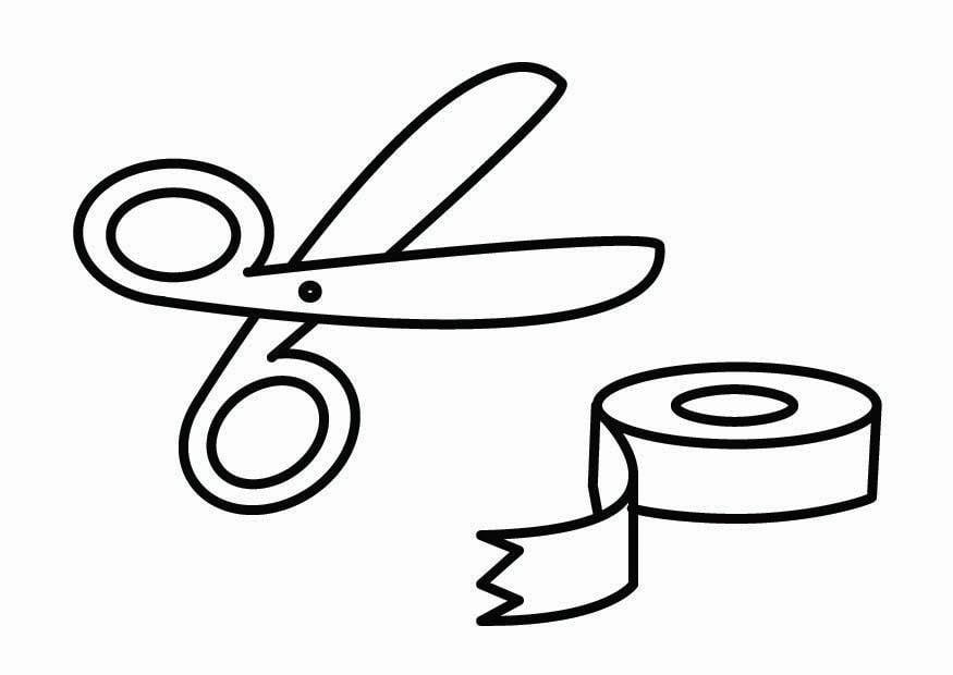 dibujo para colorear esquina de manualidades img 26759