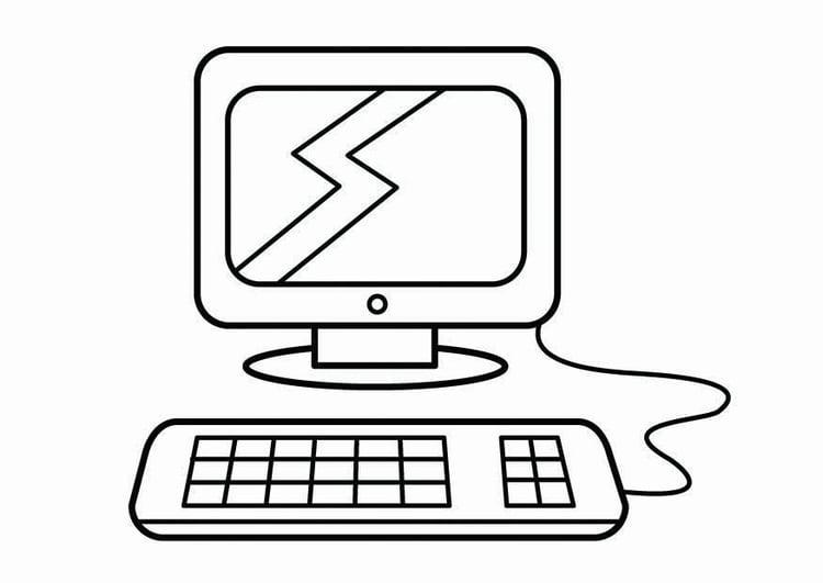 Dibujos Animados Para Colorear En El Ordenador: Dibujo Para Colorear Esquina Del Ordenador, Esquina De