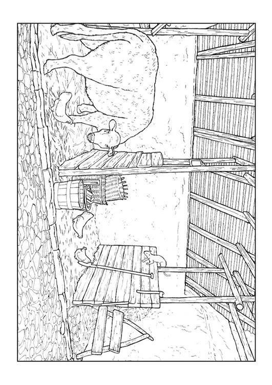 Dibujo Para Colorear Establo Img 9894
