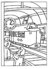 Dibujo para colorear Estación de tren