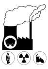 Dibujo para colorear estación energética