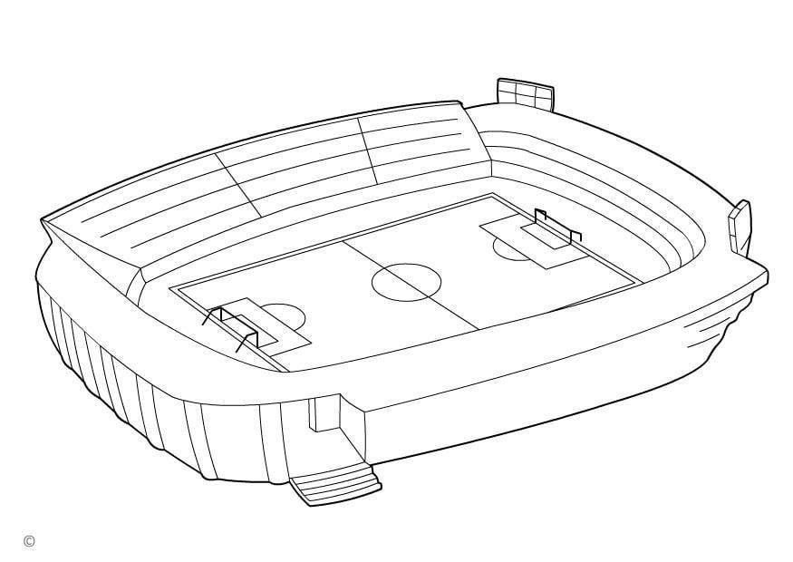 Los Mejores Dibujos De Fútbol Para Colorear E Imprimir: Dibujo Para Colorear Estadio De Fútbol