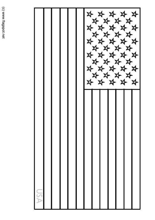 Dibujo para colorear Estados Unidos - Img 6342