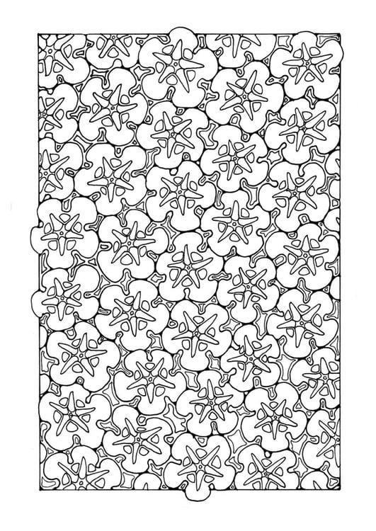 Dibujo para colorear estampado de flores - Img 27748