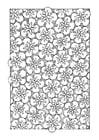 Dibujo para colorear estampado de flores