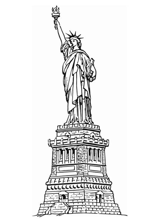 Dibujo para colorear Estatua de la libertad de Nueva York - Img 13078