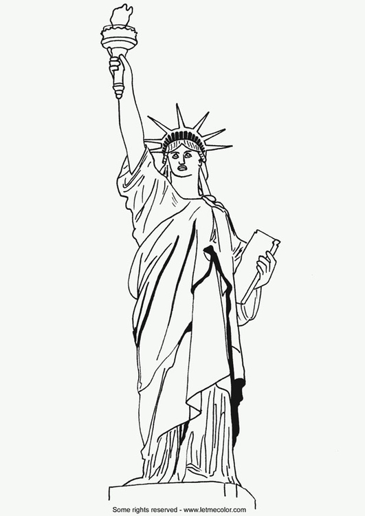 Dibujo para colorear estatua de la libertad img 9790 for Disegni new york