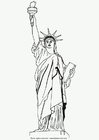 Dibujo para colorear Estatua de la libertad