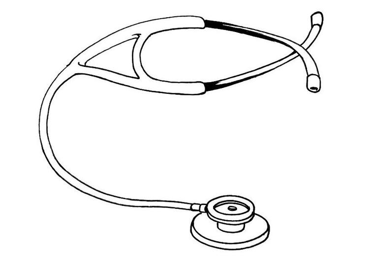 Dibujos De Medicos Para Colorear E Imprimir: Dibujo Para Colorear Estetoscopio