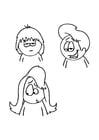 Dibujo para colorear Estilos de peinado