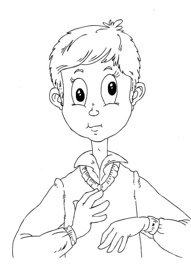 Dibujo para colorear estrabismo - Img 26238