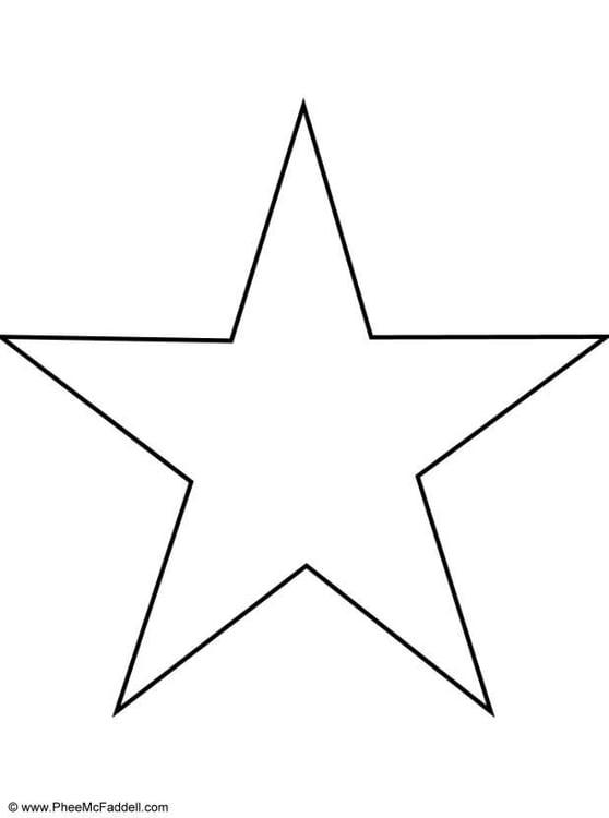 Dibujo para colorear Estrella   Img 23929