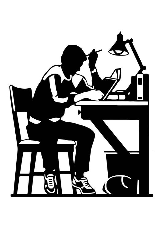 Dibujo Para Colorear Estudiar Dibujos Para Imprimir Gratis