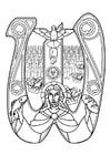 Dibujo para colorear eucaristía