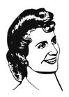 Dibujo para colorear Eva Perón