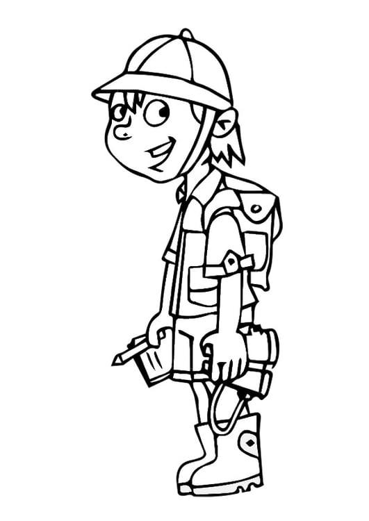 Dibujo para colorear explorador   Img 29013
