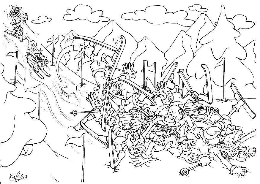 Dibujo Para Colorear Exploradores En El Campamento De