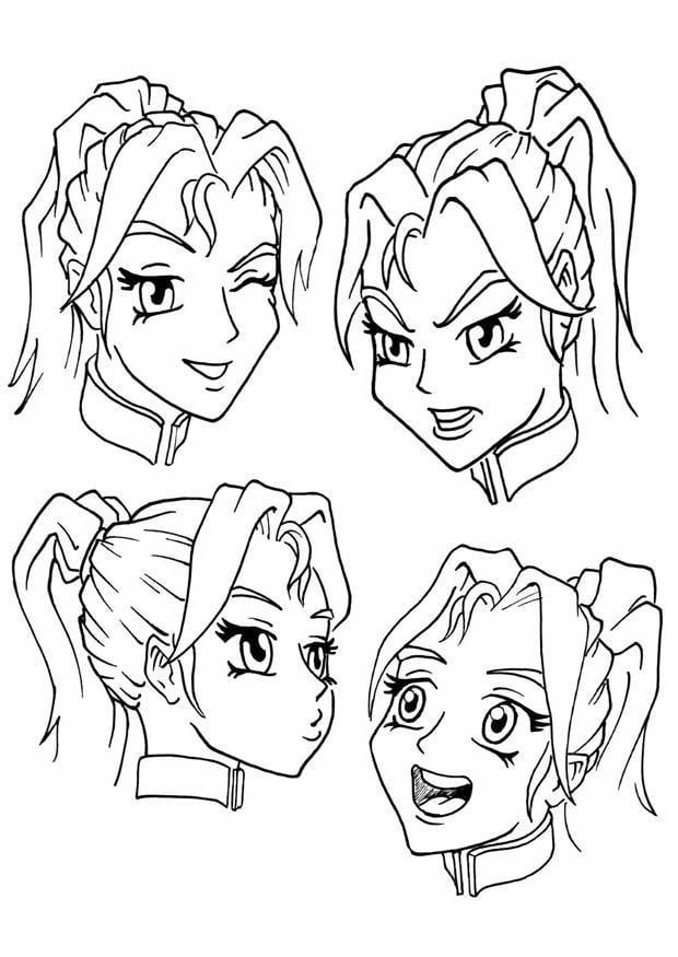 Dibujo para colorear Expresiones - emociones - Img 8894