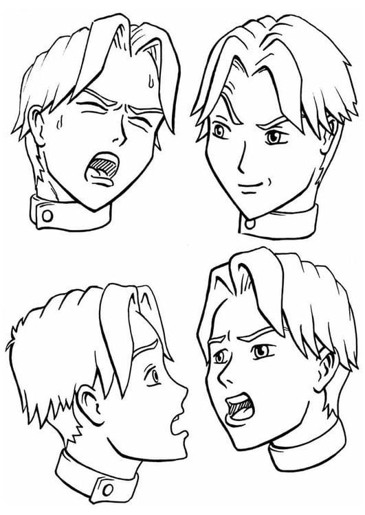 Dibujo para colorear Expresiones - emociones - Img 8895