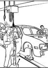 Dibujo para colorear Fábrica de coches
