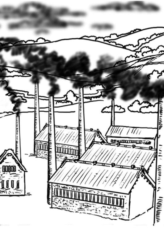 Contaminacion Del Aire Dibujos Para Colorear