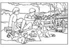 Dibujos para colorear Fábricas, contaminación del aire