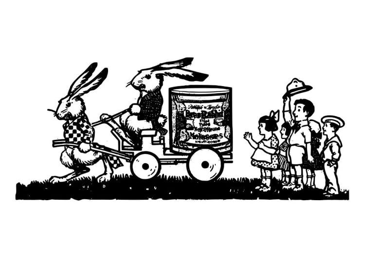 Dibujo para colorear familia de conejos  Img 27805