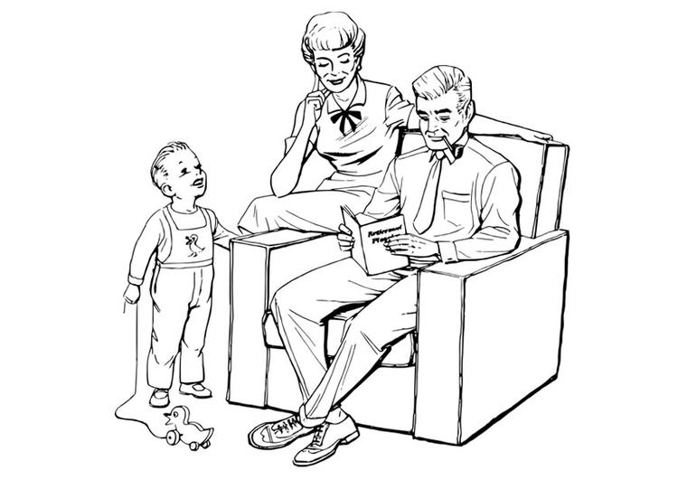 Dibujo Para Colorear Familia Img 27903 Images