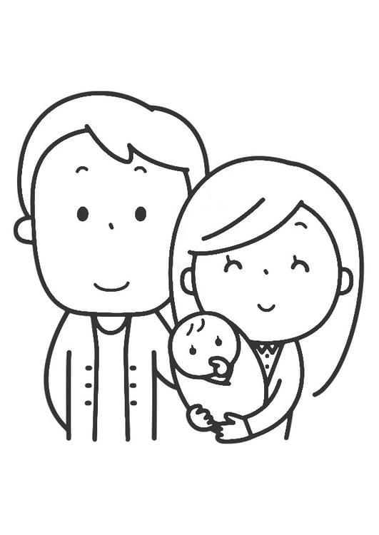 Dibujo para colorear familia   Img 30447