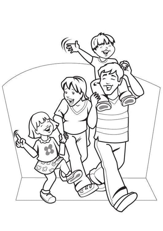 Dibujo para colorear Familia - Img 7089
