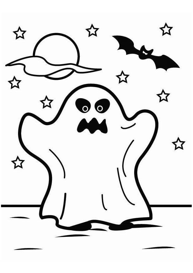Dibujo para colorear fantasma de halloween img 26451 - Dibujos de halloween ...