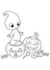 Dibujo para colorear Fantasma de halloween