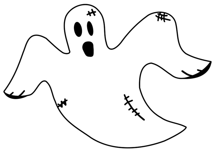 Dibujo Para Colorear Fantasma Img 19679