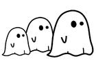 Dibujo para colorear fantasmas