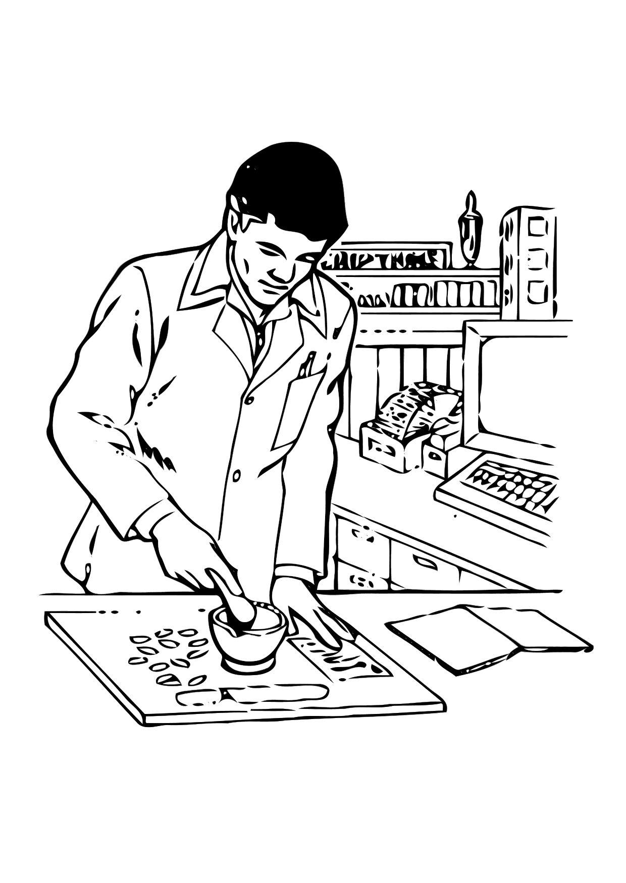 Dibujo Para Colorear Farmaceãºtico Img 11302 Images