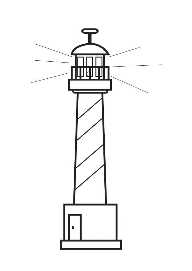 Dorable Faro Para Colorear Molde - Dibujos Para Colorear En Línea ...